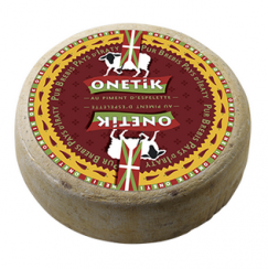 Tomme Pur Brebis Onetik - Fromage de Brebis - Fromage Brebis Basque - Fromage Basque - Tommette Piment d'Espelette - Fromage au piment d'Espelette